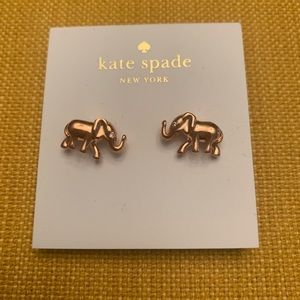 NWT Rosegold Elephant Kate Spade New York Earrings